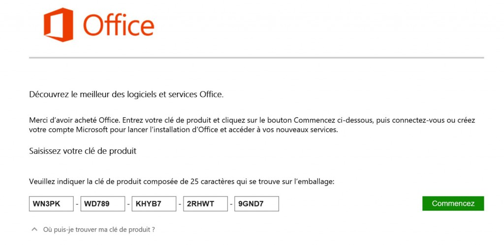 Installer office 365 d accord mais comment faire - Cle activation office 365 famille premium ...