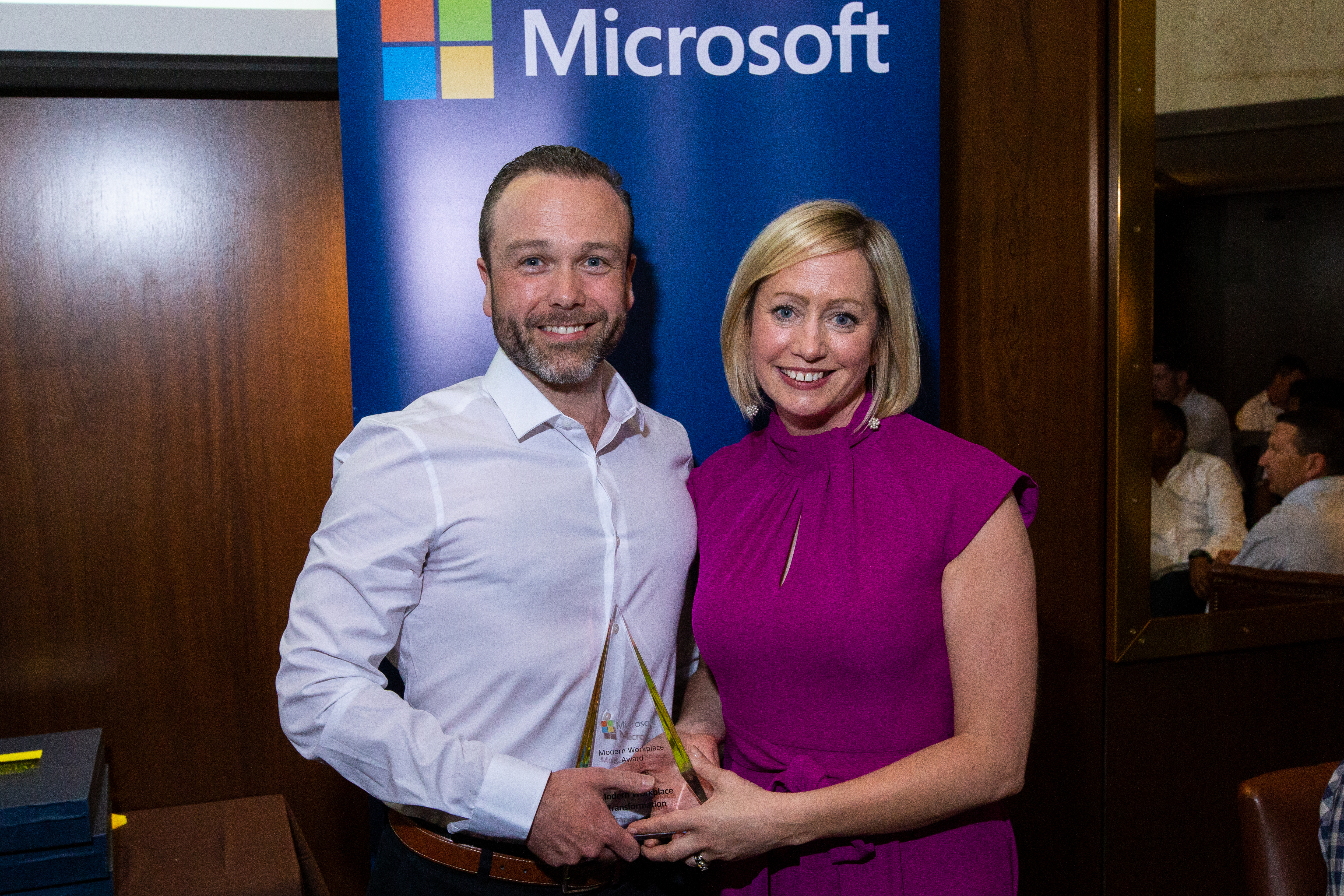 Jimmy Sheahan, Ergo and Aisling Curtis from Microsoft
