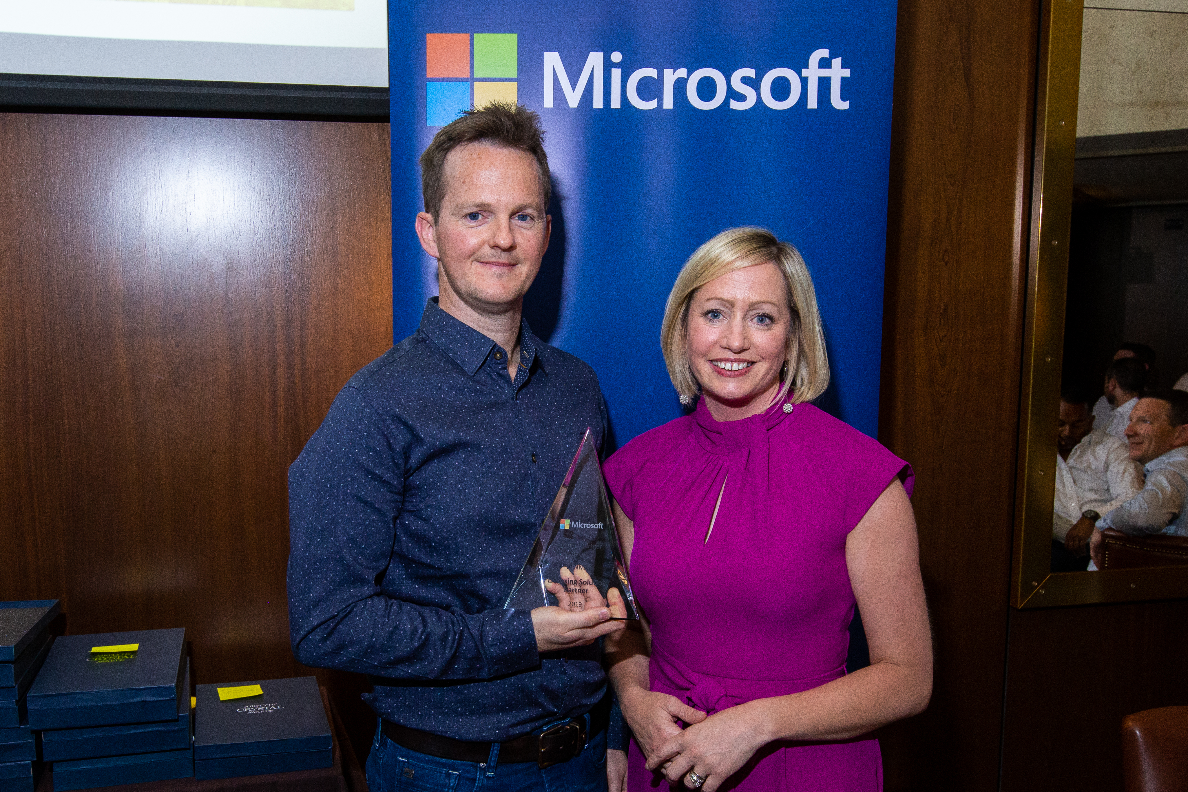 Donagh Walsh on behalf of SoftwareOne and Aisling Curtis from Microsoft