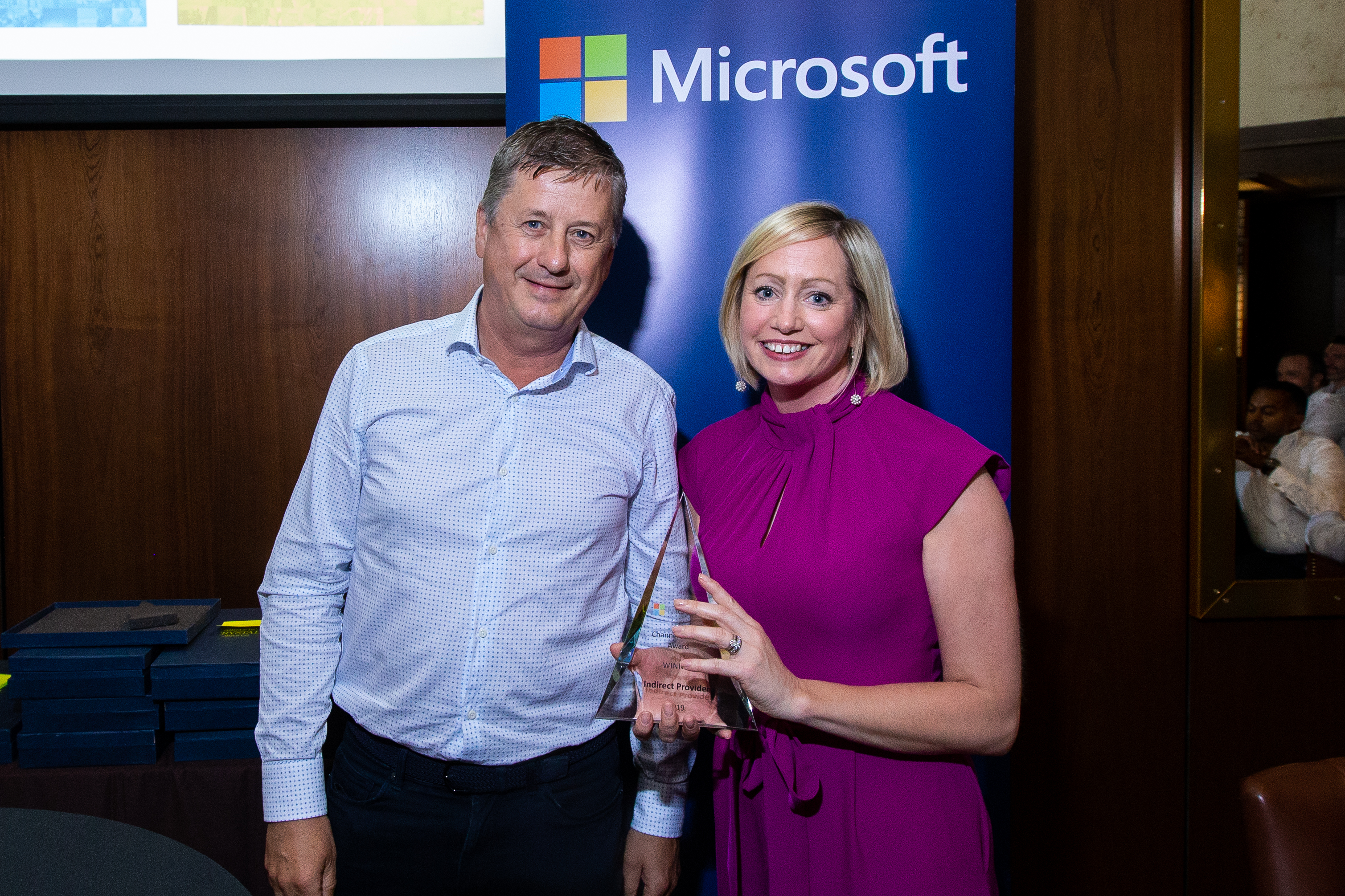 Kieran McDonnell of Vuzion and Aisling Curtis from Microsoft
