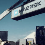 A Maersk container