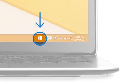 """Zo ziet de """"Download Windows 10"""" app eruit op je taakbalk."""