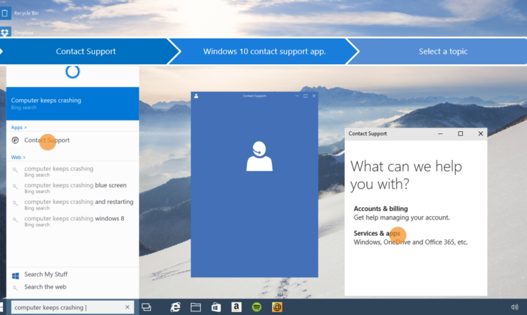 Nos différentes « lignes de support » pour la mise à niveau vers Windows 10