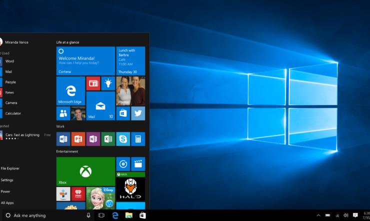 Personnalisez le menu Démarrer de Windows 10 à votre image