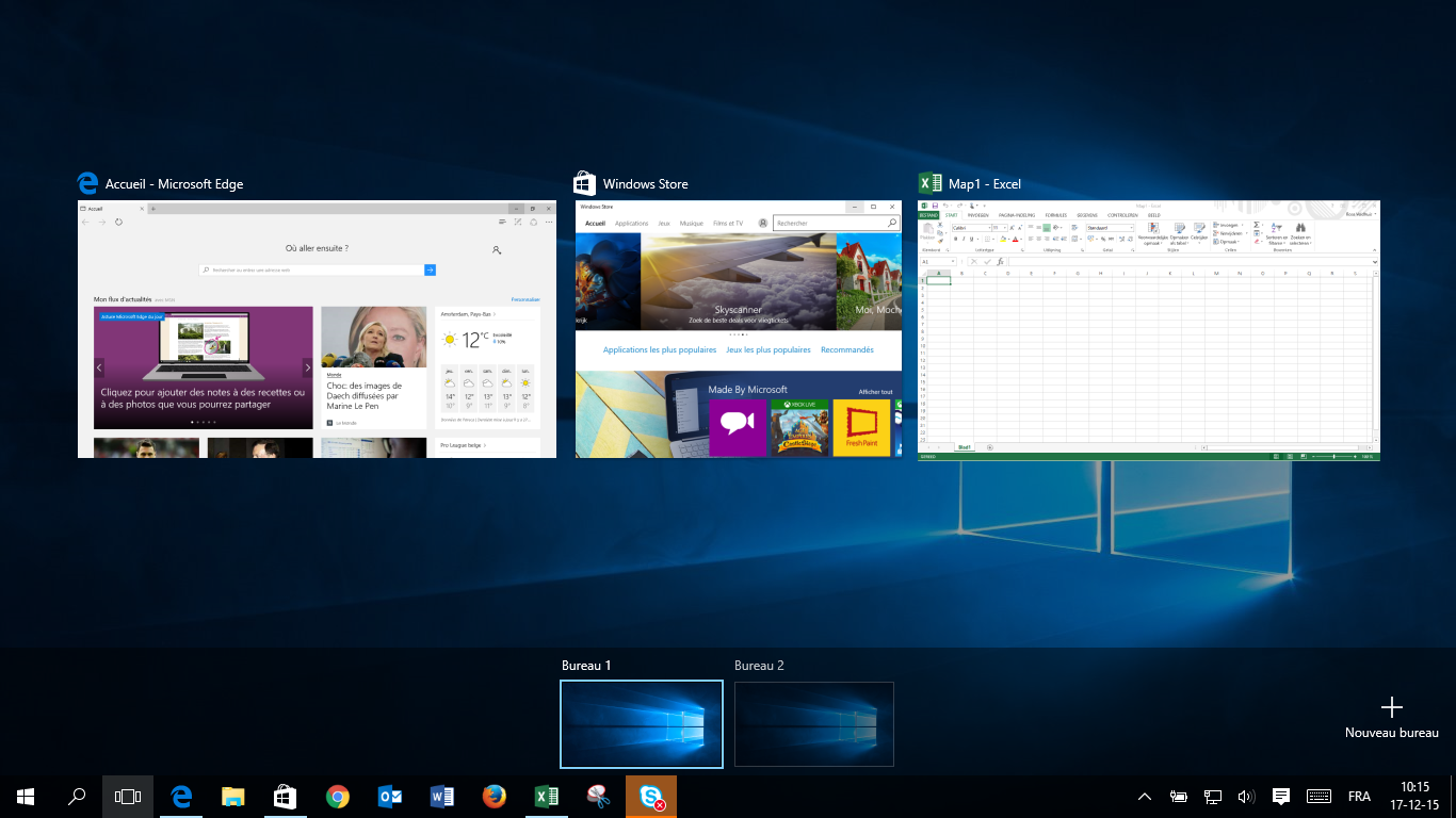 task view & multiple desktops 3 FR