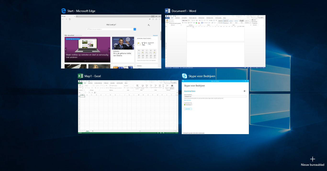 task view & multiple desktops - screens3