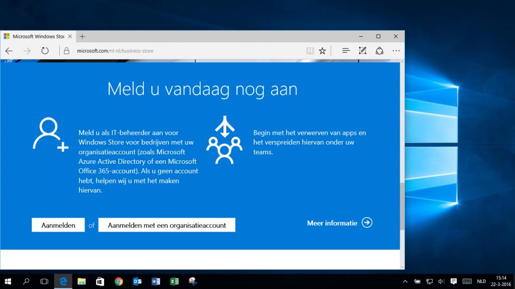 Aanmelden voor Windows Store for Business.