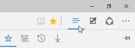 Microsoft Edge Favoris