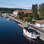 Un bateau à Soderhamn