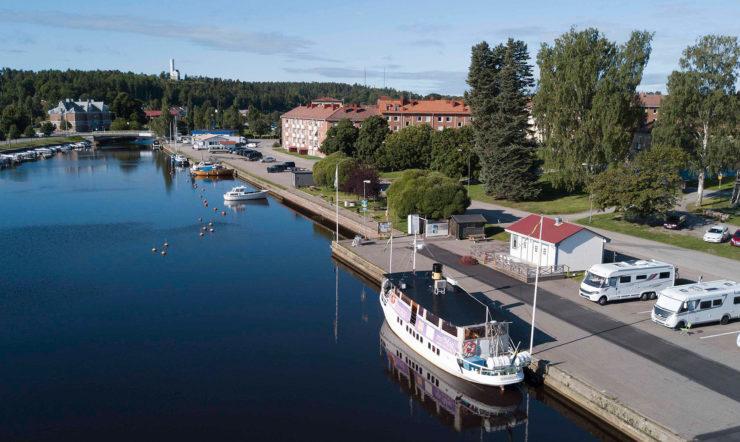 Een boot in Söderhamn