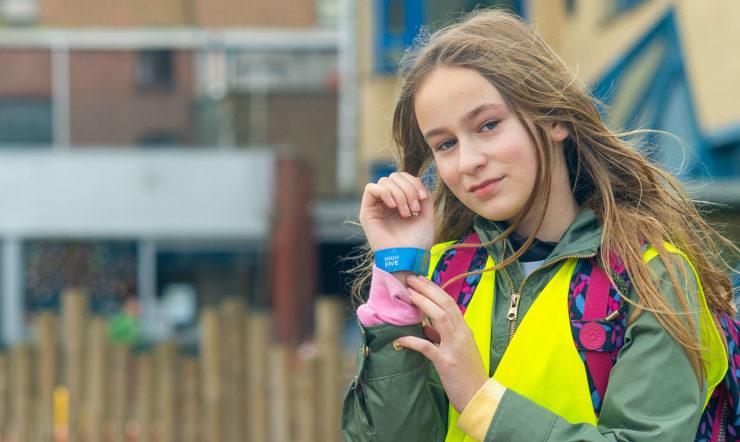 High-Five : sécuriser par le jeu les environs de l'école à Harelbeke