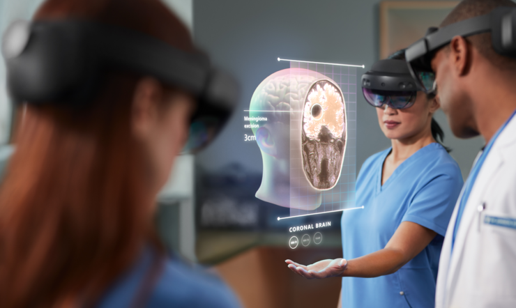 Healthcare professionals using HoloLens